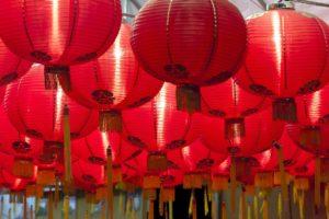 Nouvel An chinois et plats asiatiques